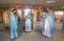 день Престольного праздника совершена Божественная Литургя
