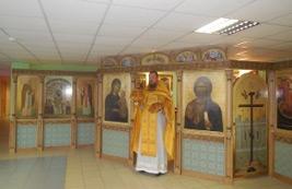 Богослужение в домовом храме в день памяти святых Петра и Февронии Муромских