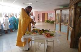 Освящение нового урожая винограда и плодов в ДДИ «Южное Бутово»