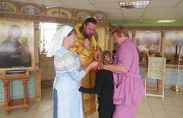 Богослужение в домовом храме в день памяти Священномученика Владимира Четверина