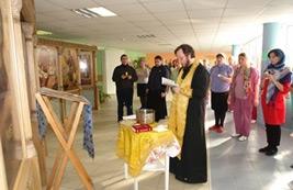 В Центре содействия семейному воспитанию «Южное Бутово» совершено таинство Елеосвящения (Соборование)